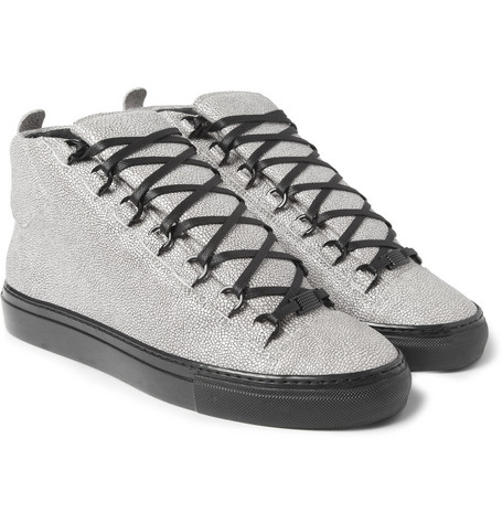 Balenciaga Arena Stingray-Print Leather Sneakers