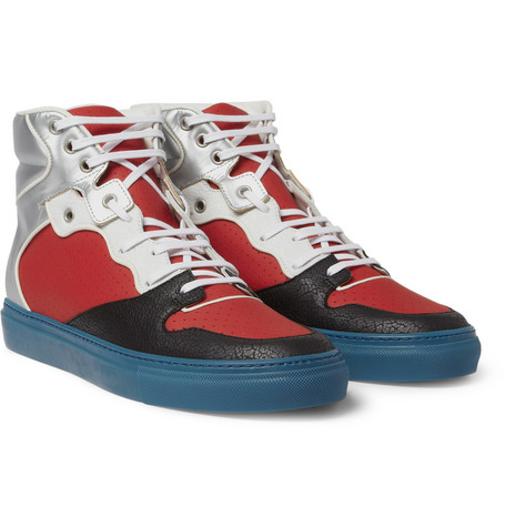 Balenciaga Panelled High Top Sneakers