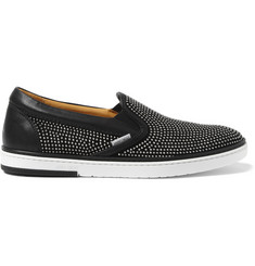 Jimmy Choo Grove Studded Leather Slip-On Sneakers