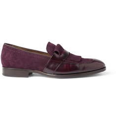Jimmy Choo Radnor Leather and Suede Loafers
