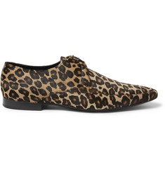 Burberry Shoes & Accessories Leopard-Print Ponyskin Derby Shoes