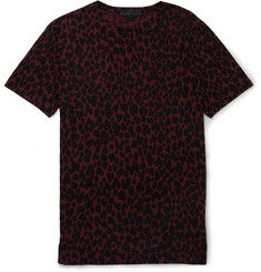 Burberry Prorsum Animal-Print Jersey Crew Neck T-Shirt