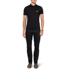 Burberry Prorsum Cotton-Piqué Polo Shirt with Badge