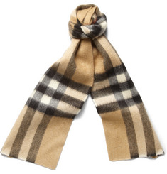 Burberry Prorsum Short Plaid Cashmere Scarf