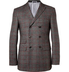 Michael Bastian Slim-Fit Double-Breasted Wool Blazer