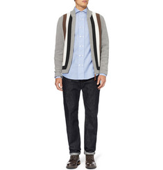 Michael Bastian Striped Wool and Cashmere-Blend Cardigan