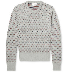 Michael Bastian Patterned Cashmere Crew Neck Sweater