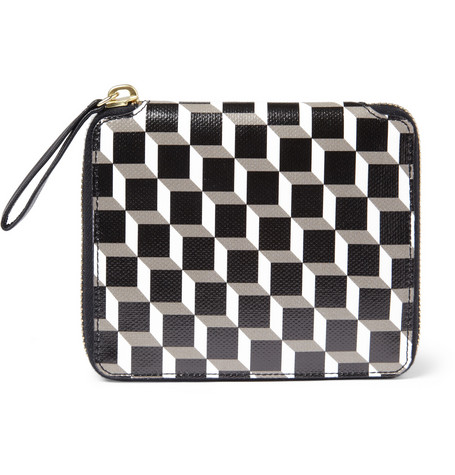 Pierre Hardy Zip-Around Printed Coated-Canvas Wallet