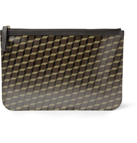 Pierre Hardy Printed Textured-Leather Pouch