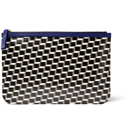 Pierre Hardy Printed Leather Pouch
