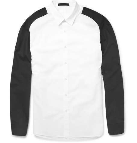 Alexander Wang Contrast-Sleeve Cotton Shirt