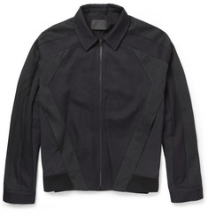 Alexander Wang Panelled Wool-Twill and Nylon-Canvas Jacket