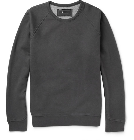 Alexander Wang Fleece-Backed Cotton-Blend Jersey Sweatshirt