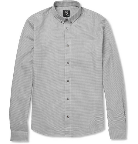 McQ Alexander McQueen Slim-Fit Houndstooth Cotton Shirt