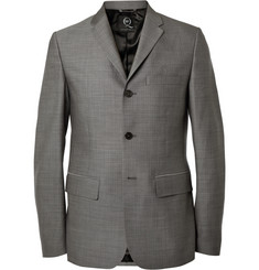 McQ Alexander McQueen Grey Slim-Fit Wool Suit Jacket