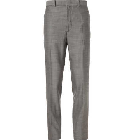 McQ Alexander McQueen Grey Slim-Fit Wool Suit Trousers