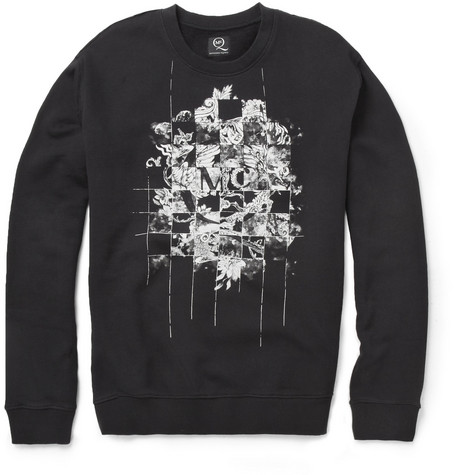 McQ Alexander McQueen Printed Fleece-Backed Cotton-Blend Jersey Sweatshirt