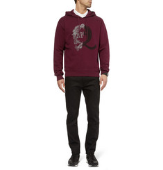 McQ Alexander McQueen Printed Fleece-Backed Cotton Jersey Sweatshirt