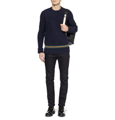 McQ Alexander McQueen Knitted Wool-Blend Crew Neck Sweater