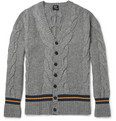 McQ Alexander McQueen Cable-Knit Wool-Blend Cardigan