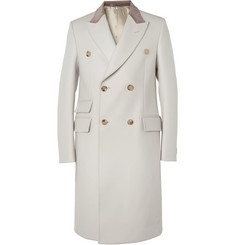 Gucci Velvet-Collar Wool Coat