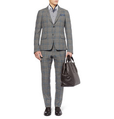 Gucci Slim-Fit Prince Of Wales Check Wool  Suit Trousers