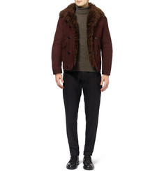 Gucci Shearling-Lined Suede Jacket