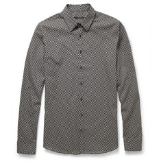 Gucci Slim-Fit Dot-Print Cotton Shirt