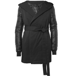 Rick Owens Down-Filled Contrast-Sleeve Coat