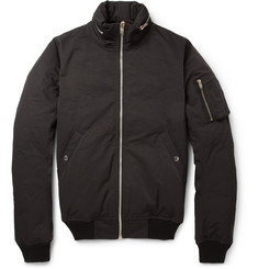 Rick Owens Cotton-Blend Padded Bomber Jacket