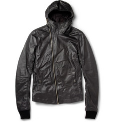 Rick Owens Hooded Leather Jacket