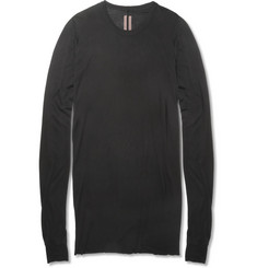 Rick Owens Slim-Fit Fine-Jersey Long Sleeved T-Shirt