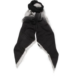 Rick Owens Patterned Wool, Silk and Cashmere-Blend Scarf
