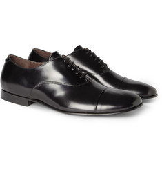 Acne Finn High-Shine Leather Oxford Shoes