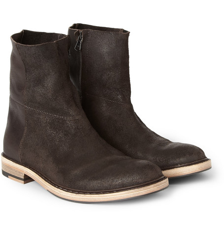 Acne Studios Javier Brushed-Leather Boots