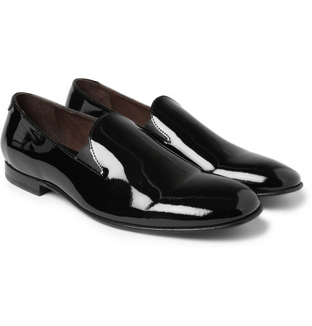 Acne Studios Louis Patent Leather Slippers