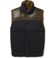 Marc by Marc Jacobs Leather-Trimmed Quilted Gilet