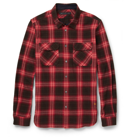 Marc by Marc Jacobs Burlington Plaid Cotton-Flannel Shirt