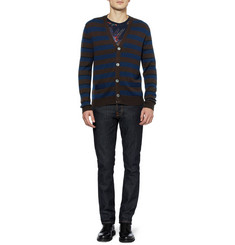 Marc by Marc Jacobs Striped Merino Wool Cardigan