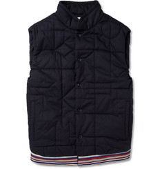 Folk Quilted Cotton-Twill Gilet