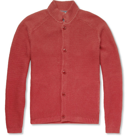 Folk Ribbed-Knit Pima Cotton Cardigan