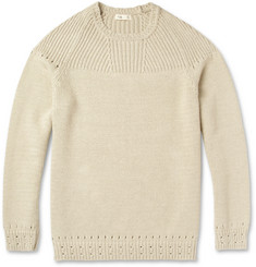 Folk Thick Knitted-Cotton Sweater