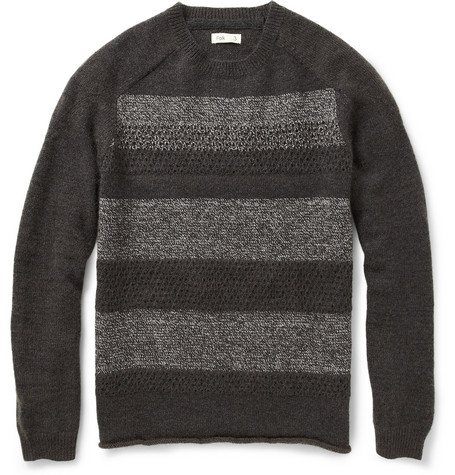 Folk Jummy Striped Wool-Blend Sweater
