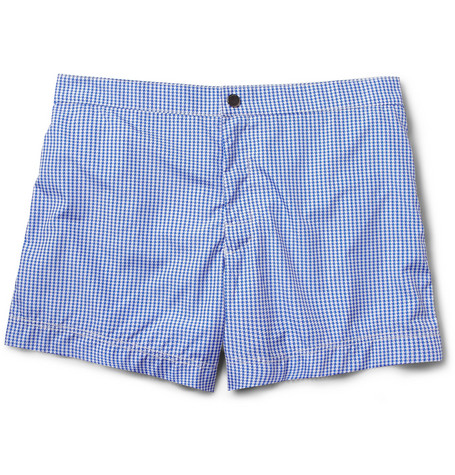 Dan Ward Zigzag-Print Short-Length Swim Shorts