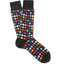 Paul Smith Shoes & Accessories Polka Dot Cotton-Blend Socks