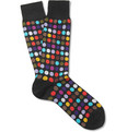 Paul Smith - Polka Dot Cotton-Blend Socks
