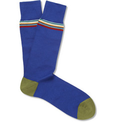 Paul Smith Shoes & Accessories Stripe-Trim Cotton-Blend Socks