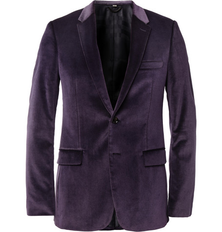 Burberry London Slim-Fit Velvet Blazer