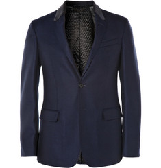 Burberry London Slim-Fit Quilted Wool Tuxedo Blazer