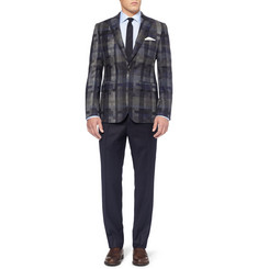 Burberry London Regular-Fit Wool-Flannel Trousers